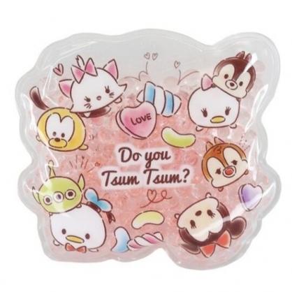 小禮堂 迪士尼 TsumTsum 造型透明果凍顆粒保冷劑 保冰劑 冰敷袋 (粉 糖果)