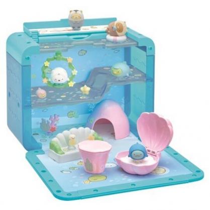 小禮堂 角落生物 模型娃娃屋 模型擺飾 公仔收納盒 (藍 水族館)