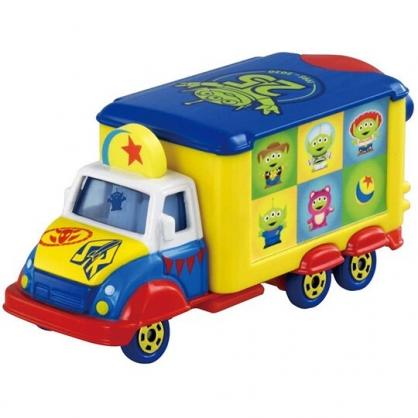 小禮堂 TOMICA多美小汽車 迪士尼 玩具總動員 25週年宣傳車 玩具車 模型車 (藍黃)