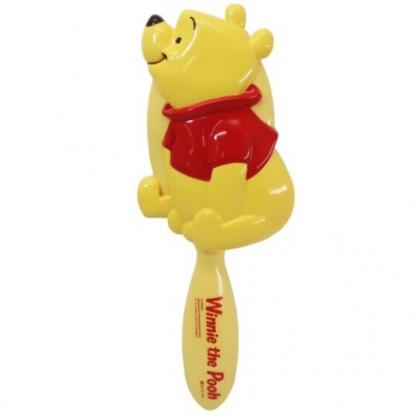 小禮堂 迪士尼 小熊維尼 造型塑膠手握梳 直梳 塑膠梳 (黃 側坐)