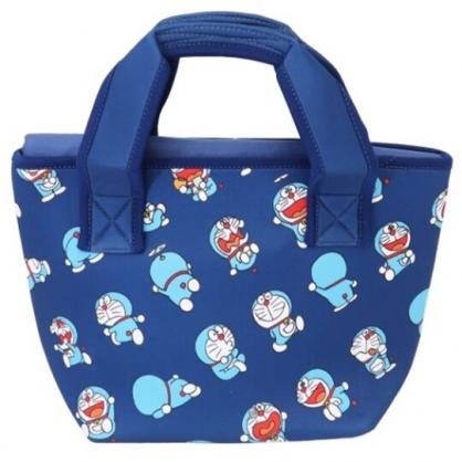 小禮堂 哆啦A夢 潛水布保冷便當袋 保冷提袋 野餐袋 可拆內裡 (深藍 50週年)