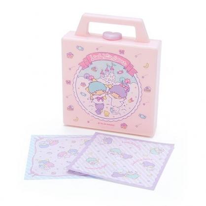 小禮堂 雙子星 便條紙組 附手提收納盒 名片盒 小物收納 (粉紫 窗形城堡)