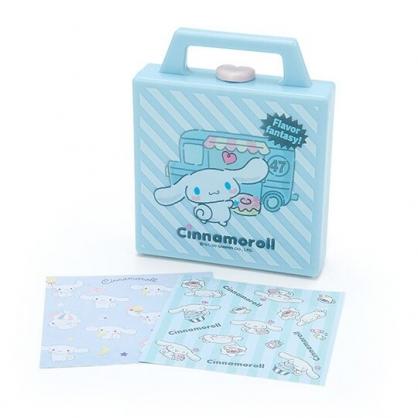 小禮堂 大耳狗 便條紙組 附手提收納盒 名片盒 小物收納 (藍白 斜紋餐車)