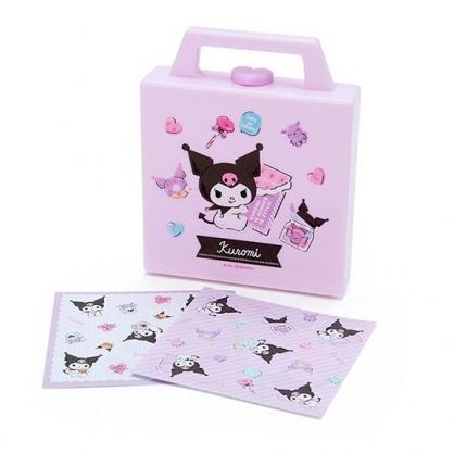 小禮堂 酷洛米 便條紙組 附手提收納盒 名片盒 小物收納 (紫 抱巧克力)