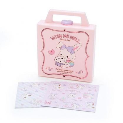 小禮堂 許願兔 便條紙組 附手提收納盒 名片盒 小物收納 (粉 杯子蛋糕)