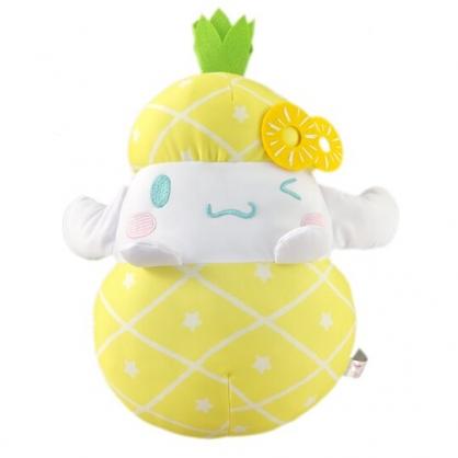 小禮堂 大耳狗 水果沙包玩偶 絨毛娃娃 沙包娃娃 布偶 (M 黃白 鳳梨)