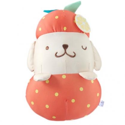 小禮堂 布丁狗 水果沙包玩偶 絨毛娃娃 沙包娃娃 布偶 (M 橘黃 橘子)