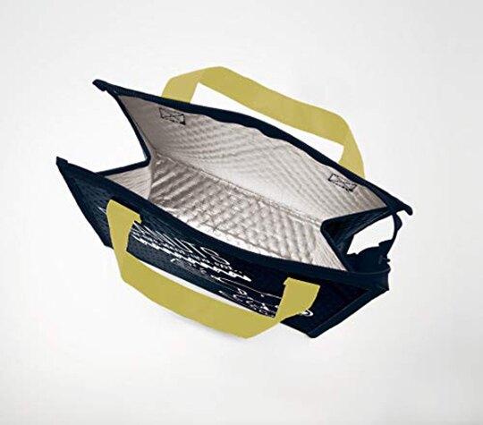 小禮堂 史努比 方形不織布保冷便當袋 保冷提袋 野餐袋 (黑黃 咬狗碗)