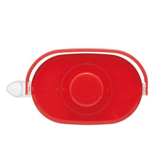 小禮堂 Hello Kitty 日製 手提透明冷水壺 耐熱水壺 飲料壺 1.2L (紅蓋)