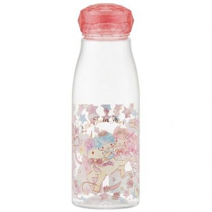 小禮堂 雙子星 透明隨身冷水瓶 塑膠水瓶 兒童水壺 500ml (粉蓋 獨角獸)