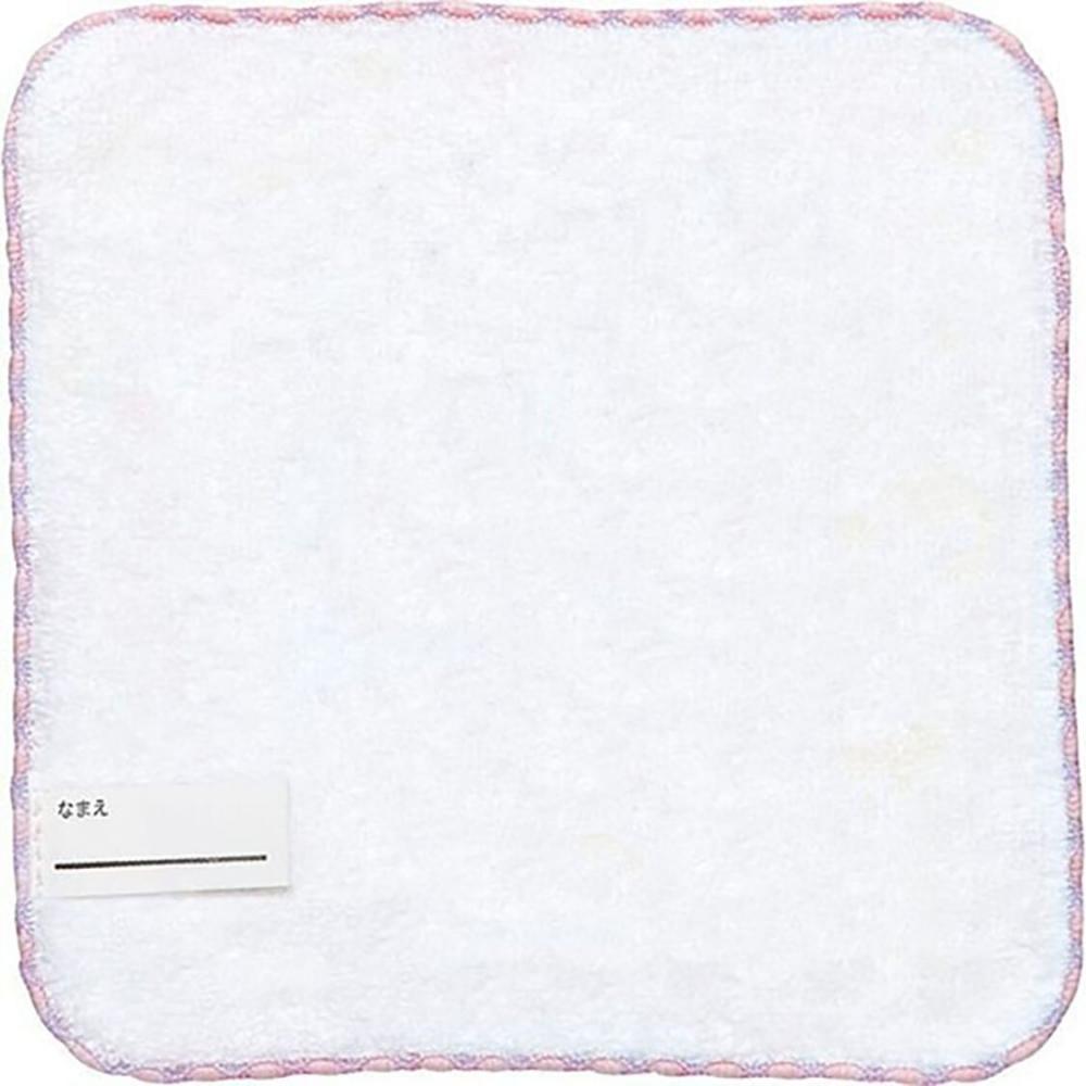 小禮堂 憂傷馬戲團 純棉割絨方巾 手帕 小毛巾 21x21cm (米藍 下午茶)
