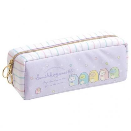 小禮堂 角落生物 磁吸尼龍拉鍊筆袋 磁吸筆盒 鉛筆盒 鉛筆袋 (紫 恐龍裝)