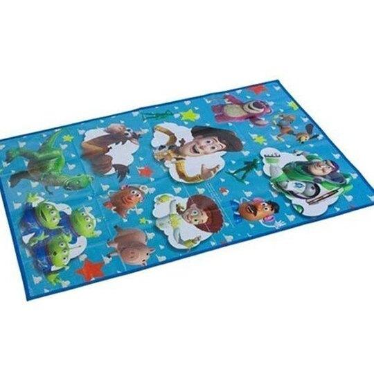 小禮堂 迪士尼 玩具總動員 日製 單人野餐墊 沙灘墊 防水墊 60x90cm (藍 雲朵)