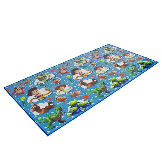 小禮堂 迪士尼 玩具總動員 日製 雙人野餐墊 沙灘墊 防水墊 90x180cm (藍 雲朵)