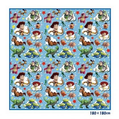 小禮堂 迪士尼 玩具總動員 日製 4-5人野餐墊 沙灘墊 防水墊 180x180cm (藍 雲朵)