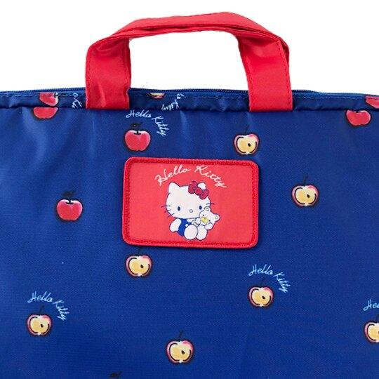 小禮堂 Hello Kitty 尼龍手提電腦包 筆電包 公事包 手提方包 (深藍 蘋果滿版)