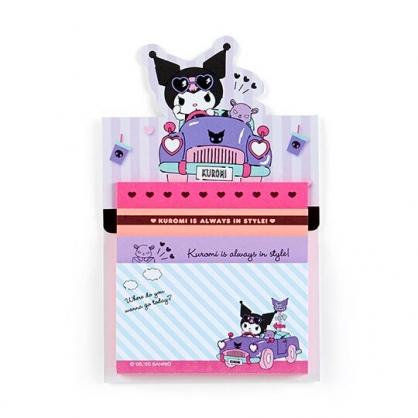 小禮堂 酷洛米 日製 自黏便利貼 N次貼 自黏便箋 便條紙 備忘錄 (紫 開車)