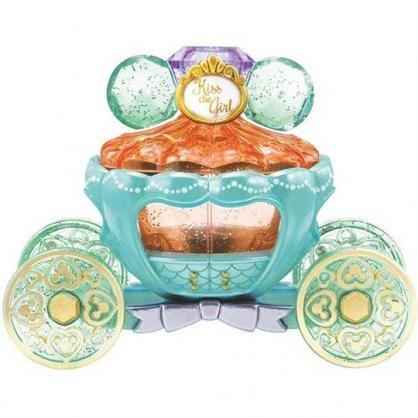 小禮堂 TOMICA多美小汽車 迪士尼 小美人魚 水晶南瓜馬車 珠寶車 玩具車 (綠橘)