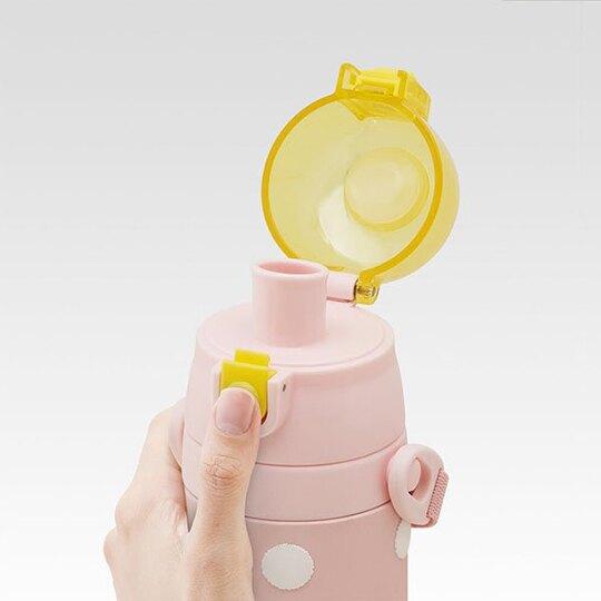 小禮堂 角落生物 彈蓋保溫瓶 兒童水壺 隨身水壺 超輕量不鏽鋼 480ml (粉 點點)