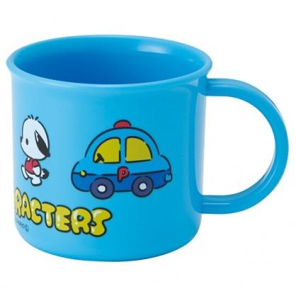 小禮堂 Sanrio大集合 日製 單耳塑膠杯 兒童水杯 漱口杯 200ml (藍 車車)
