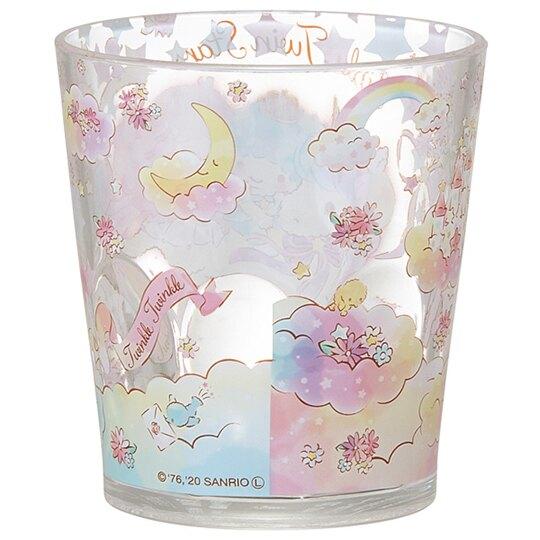 小禮堂 雙子星 無把塑膠杯 透明杯 壓克力杯 兒童水杯 280ml (粉 獨角獸)