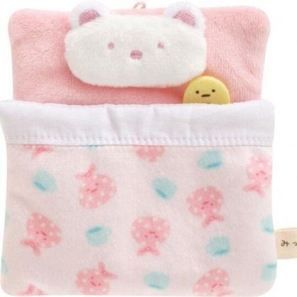 小禮堂 角落生物 北極熊 迷你絨毛玩偶娃娃床 玩偶配件 布偶床 (粉 方形)