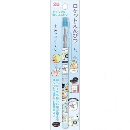 小禮堂 角落生物 免削鉛筆 學童鉛筆 2B鉛筆 (藍 燈泡飲料)