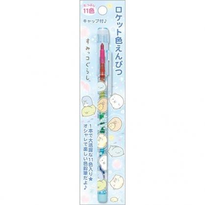 小禮堂 角落生物 免削彩虹筆 色鉛筆 彩繪筆 塗鴉筆 11色 (藍 海底)