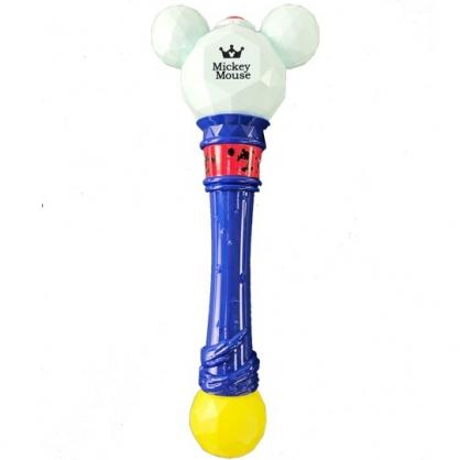 小禮堂 迪士尼 米奇 魔杖造型泡泡槍玩具 電動泡泡槍 吹泡泡機 泡泡棒 (深藍白)
