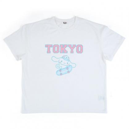 小禮堂 大耳狗 棉質圓領短袖上衣 休閒上衣 T-shirt 短T 棉T (白 TOKYO)
