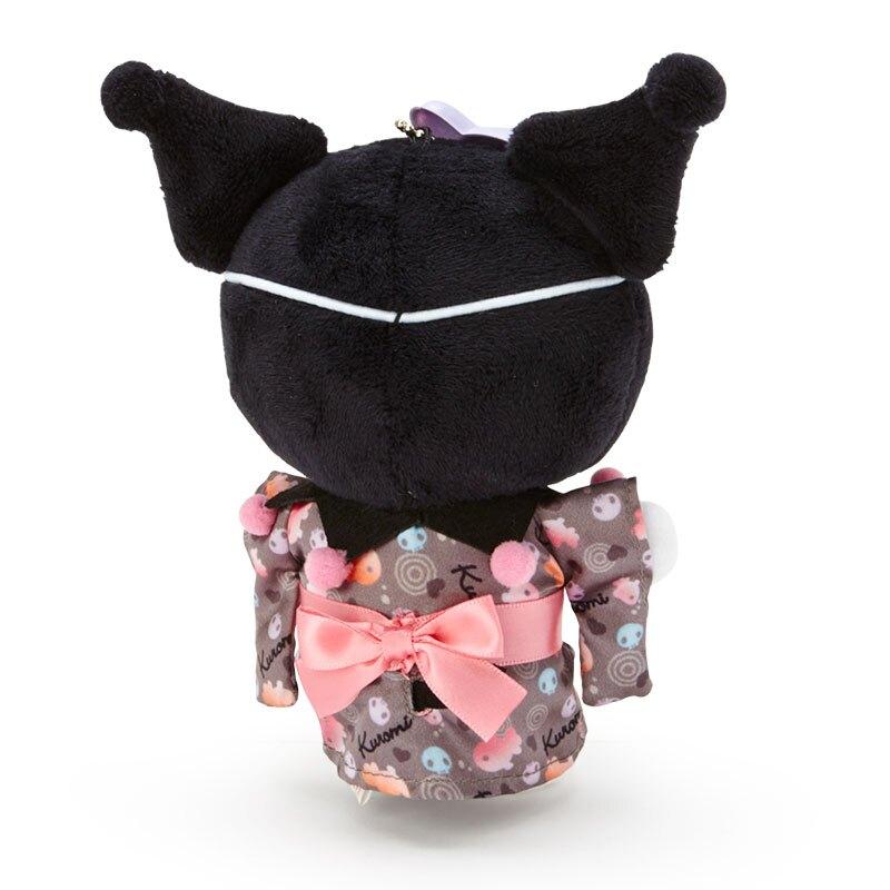 小禮堂 酷洛米 絨毛吊飾 玩偶吊飾 玩偶鑰匙圈 (黑紫 夏日祭典)