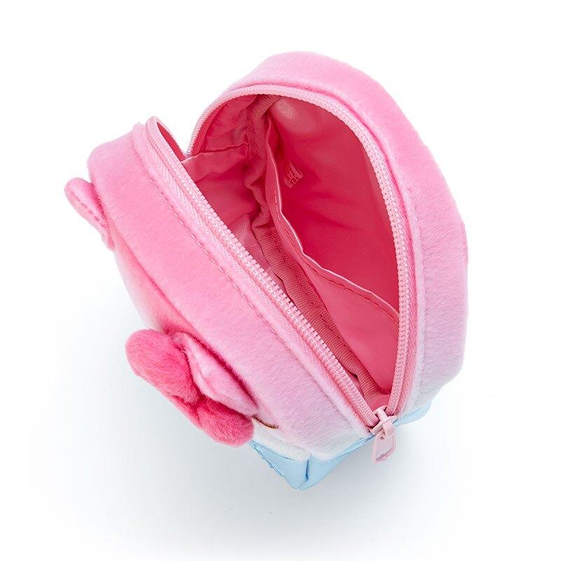 小禮堂 Hello Kitty 造型防水化妝包 絨毛化妝包 小物收納包 (粉藍 夏日祭典)