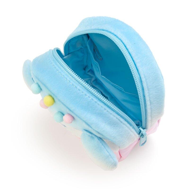 小禮堂 大耳狗 造型防水化妝包 絨毛化妝包 小物收納包 (藍粉 夏日祭典)