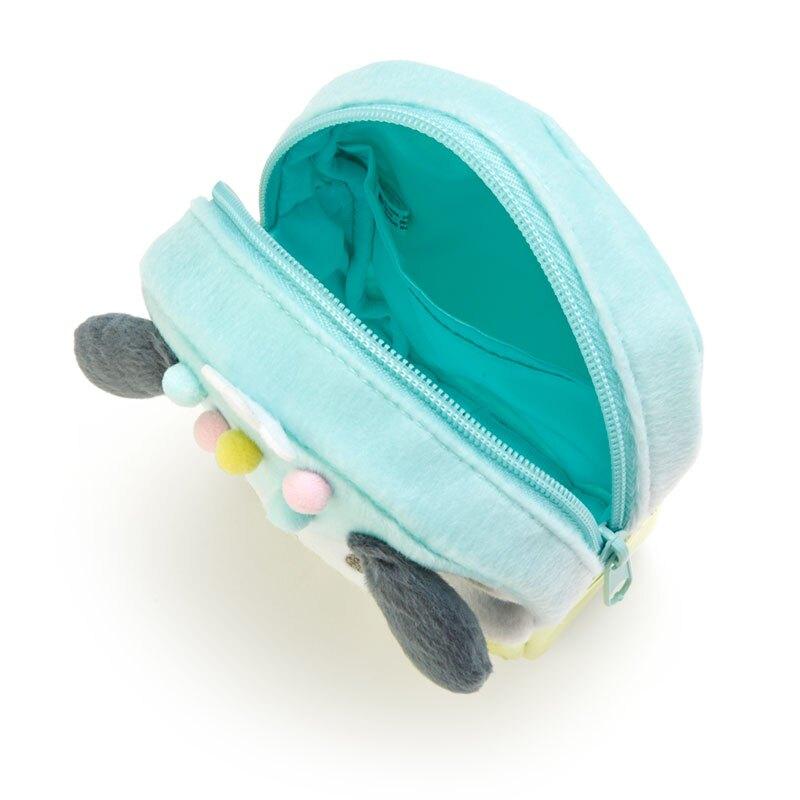 小禮堂 帕恰狗 造型防水化妝包 絨毛化妝包 小物收納包 (黃藍 夏日祭典)