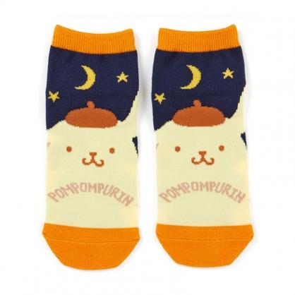 小禮堂 布丁狗 成人短襪 隱形襪 及踝襪 船形襪 腳長23-25cm (藍黃 夜晚)