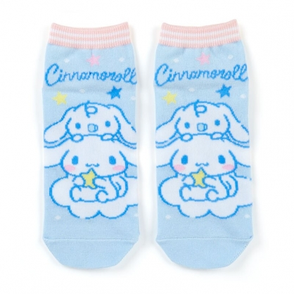 小禮堂 大耳狗 成人短襪 隱形襪 及踝襪 船形襪 腳長23-25cm (藍粉 朋友)