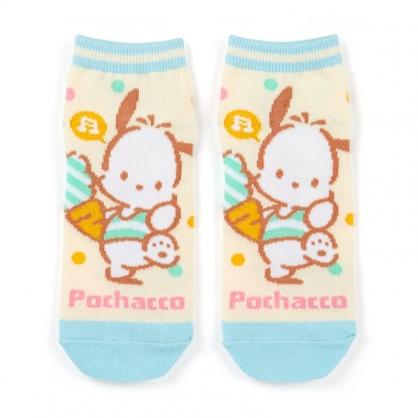 小禮堂 帕恰狗 成人短襪 隱形襪 及踝襪 船形襪 腳長23-25cm (黃綠 紅蘿蔔)