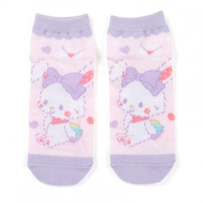 小禮堂 許願兔 成人短襪 隱形襪 及踝襪 船形襪 腳長23-25cm (粉紫 信封)