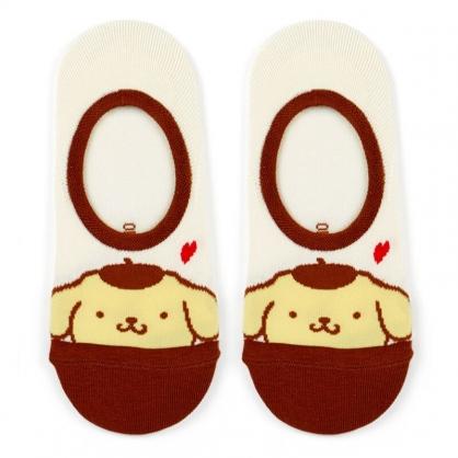 小禮堂 布丁狗 成人短襪 隱形襪 及踝襪 船形襪 腳長23-25cm (黃棕 大臉)