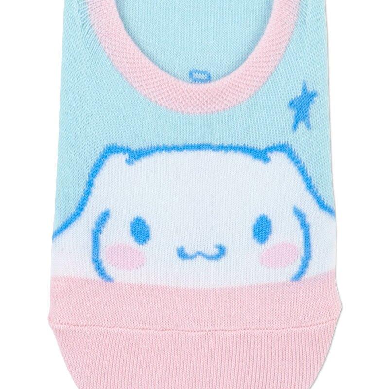 小禮堂 大耳狗 成人短襪 隱形襪 及踝襪 船形襪 腳長23-25cm (藍粉 大臉)
