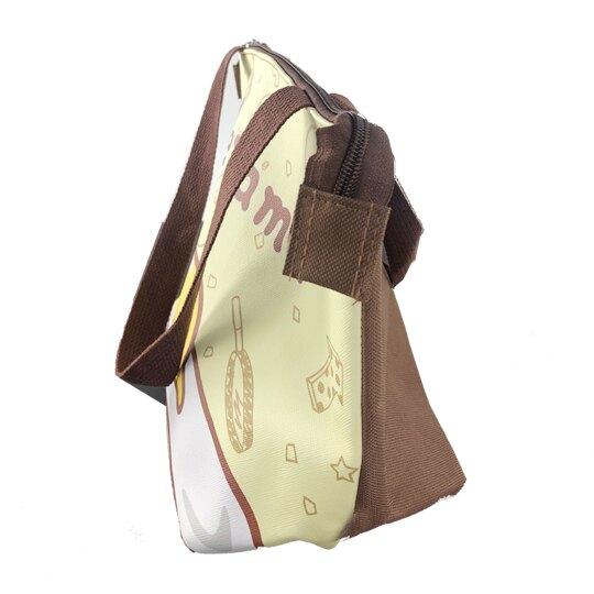 小禮堂 蛋黃哥 橫式皮質保冷便當袋 保冷提袋 野餐袋 手提袋 (黃 趴姿)