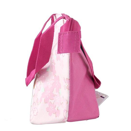 小禮堂 美樂蒂 橫式皮質保冷便當袋 保冷提袋 野餐袋 手提袋 (粉 櫻花大臉)
