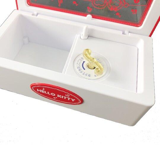 小禮堂 Hello Kitty 日製 方形音樂鈴珠寶盒 飾品盒 復古音樂盒 音樂收納盒 (紅白 音符)