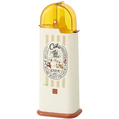 小禮堂 迪士尼 奇奇蒂蒂 日製 掀蓋塑膠餐具收納盒 筷盒 餐具筒 廚具盒 (米黃 廚師)