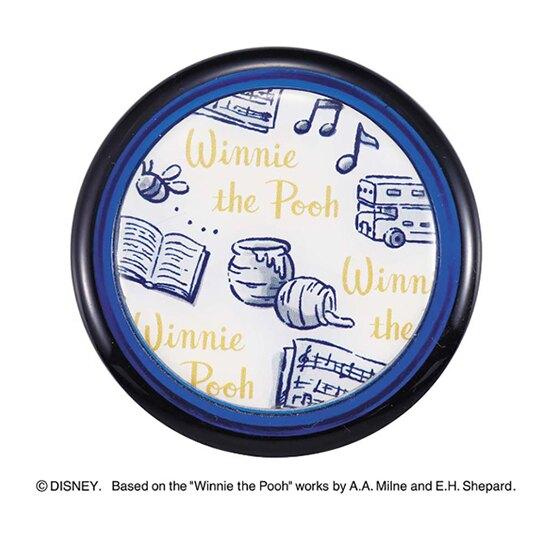小禮堂 迪士尼 小熊維尼 迷你旋轉蓋保溫瓶 兒童水壺 隨身水壺 超輕量不鏽鋼 200ml (藍白 牽手)