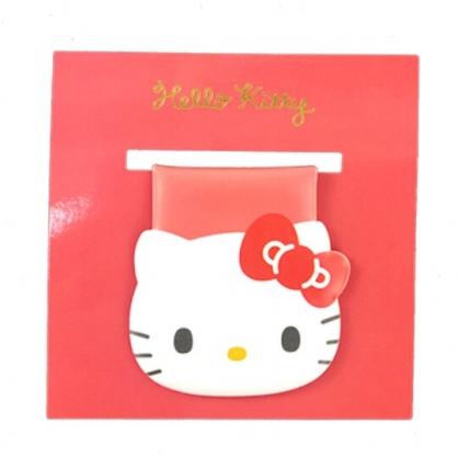小禮堂 Hello Kitty 造型磁鐵夾 吸鐵夾 事務夾 造型夾 (紅 大臉文具)