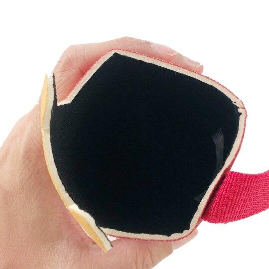 小禮堂 迪士尼 小熊維尼 潛水布水壺袋 環保杯袋 飲料杯袋 (黃紅 大臉)