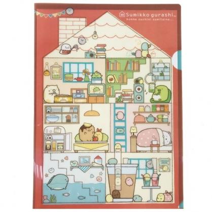 小禮堂 角落生物 日製  A4資料夾 文件夾 檔案夾 L夾 (橘藍 房屋)
