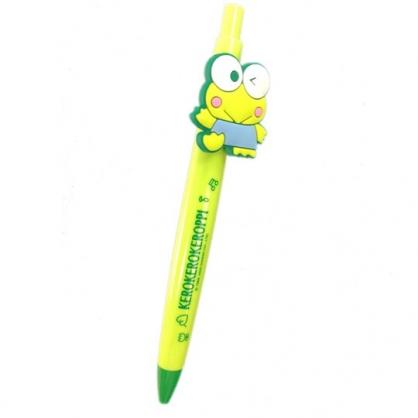 小禮堂 大眼蛙 造型原子筆 藍筆 自動筆 0.5mm (綠 矽膠筆夾)