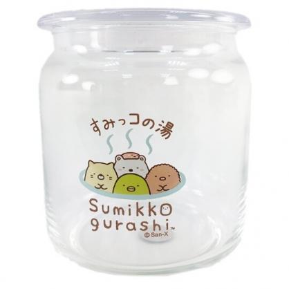 小禮堂 角落生物 透明密封玻璃罐 食物分裝罐 保鮮罐 餅乾罐 500ml (溫泉)